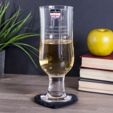 Personalised Dartington Cream Of The Crop Vintage Cider Glass