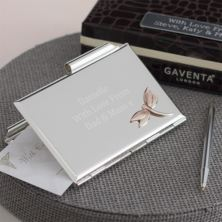 Engraved Luxury Dragonfly Notebook and Pen Set