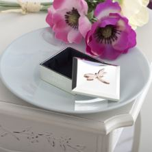 Luxury Engraved Rose Gold Dragonfly Trinket Box