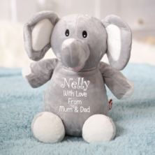 Personalised Embroidered Cubbies Elephant Soft Toy