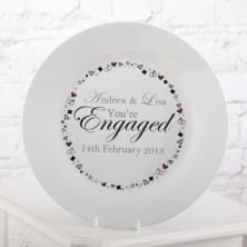 Personalised You're Engaged Plate