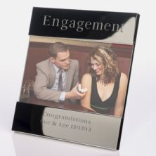 Engraved Engagement Photo Frame