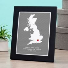 Personalised Engagement Location Framed Print