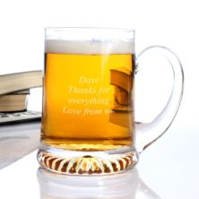 Personalised Classic Star Base Crystal Tankard