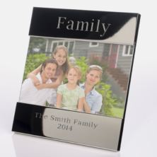 Engraved Family Photo Frame