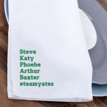 Personalised Embroidered Family Tea Towel