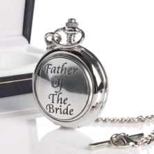 Father Of Bride Pocket Watch With Personalised Gift Box