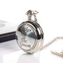 Father Of The Groom Pocket Watch With Personalised Gift Box