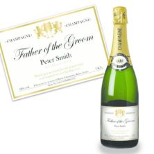 Father of the Groom Personalised Champagne