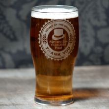 Personalised Father of The Groom Pint Glass