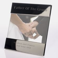 Engraved Father Of The Groom Photo Frame