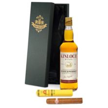 Father's Day Personalised Blended Whisky & Montecristo Tube Cigar