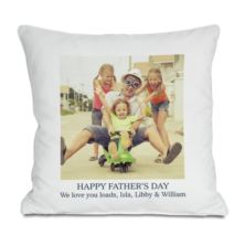Personalised Happy Father's Day Photo Cushion