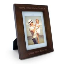 Personalised Happy Father's Day Wooden Photo Frame