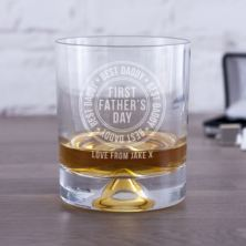 Personalised First Father's Day Best Daddy Whisky Tumbler