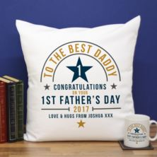 Personalised First Father's Day Cushion