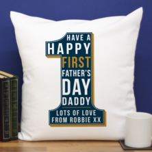 Personalised First Father's Day Number 1 Cushion