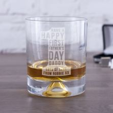 Personalised First Father's Day No 1 Whisky Tumbler