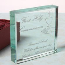 Personalised First Holy Communion Glass Keepsake