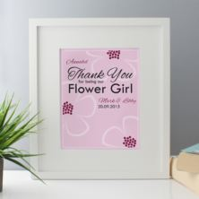 Personalised Flower Girl Framed Print