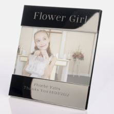 Engraved Flower Girl Photo Frame