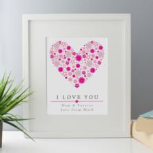 I Love You Personalised Framed Print
