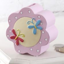 Pink Flower Kiddiwinks Money Box