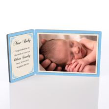 New Baby Photo Message Plaque
