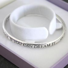 If You Dream It, You Can Achieve It - Bracelet in Personalised Box