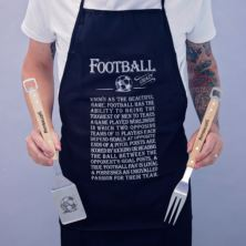 Football Crazy Apron And BBQ Set