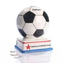 Personalised Football Fan Money Box