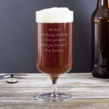 Personalised Footed Beer Glass