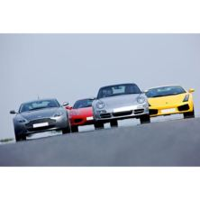 Four Supercar Driving Blast with Passenger Ride
