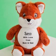 Personalised Embroidered Cubbies Fox Soft Toy