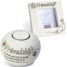 Friendship Tealight And Photo Frame Gift Set