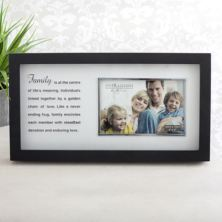 Black Family Photo Frame With Mirror Print Verse