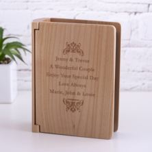 Luxury Personalised Maple Wood Photo Album