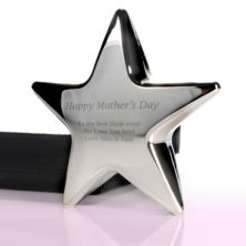 Personalised Mother's Day Silver Star Paperweight