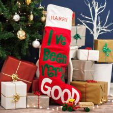 Personalised Embroidered Giant I've Been Good Christmas Stocking