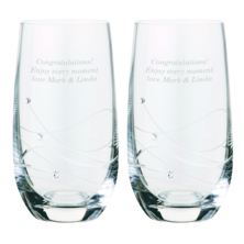 Dartington Crystal Personalised Pair of Glitz Highball Glasses