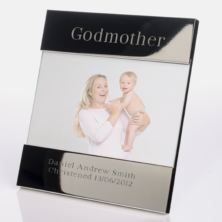 Engraved Godmother Photo Frame