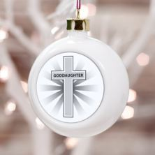 Personalised Goddaughter Christmas Bauble