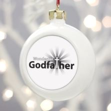 Personalised Godfather Christmas Bauble