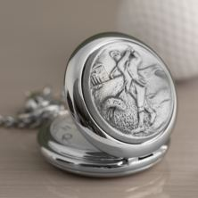 Personalised Golfer Pocket Watch