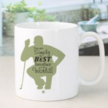 Personalised Simply The Best Golfer Design Mug