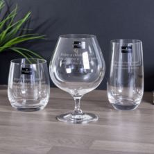 Personalised Dartington Triple Tipple Spirit Glasses