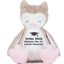 Personalised Embroidered Graduation Owl