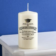 Personalised Graduation Candle