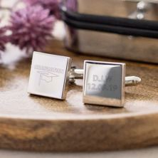 Pair Of Graduation Cufflinks With Personalised Box