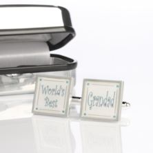 Worlds Best Grandad Cufflinks With Personalised Box